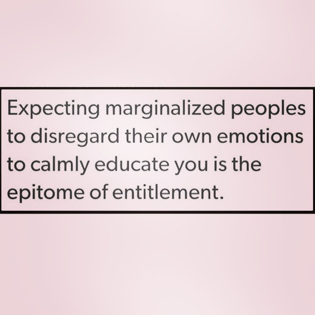 expecting marginalized peoples
